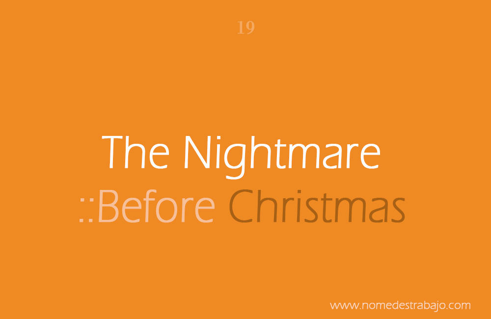 The nightmare ::before christmas